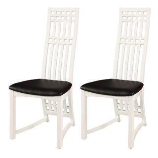Alfort Upholstered Dining Chair (Set of 2) by Ebern Designs SKU:EE350582 Details