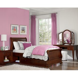 Ayalisse Wood Sleigh Bed