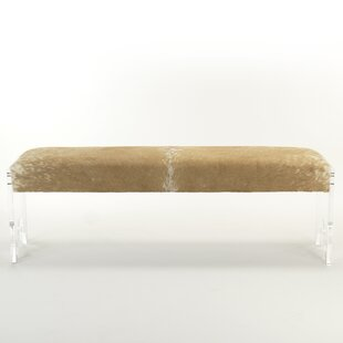 Everly Quinn Laster Acrylic Upholstered Bench
