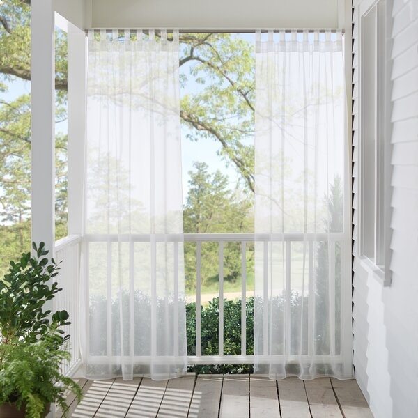 Andover Mills Bayport Appleton Solid Sheer Outdoor Tab Top Single Curtain Panel & Reviews by Andover Mills