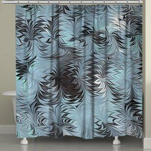 Ebern Designs Hartsock Marble Shower Curtain