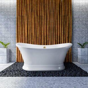 68 x 34 Freestanding Soaking Bathtub by Streamline Bath