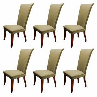 Basket Weave Stretch Polyester Dining Room Slipcover (Set of 6) by Charlton Home