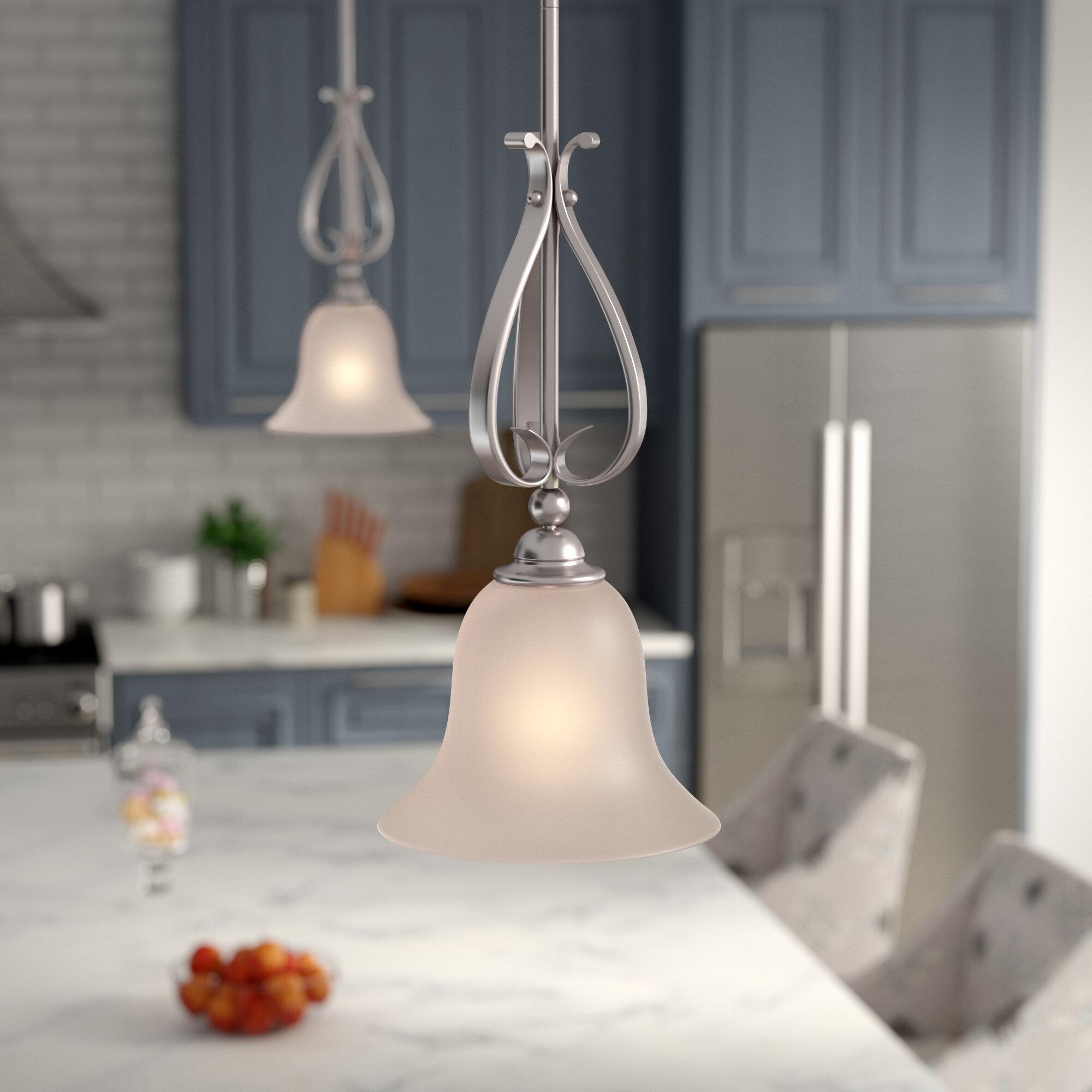 Andover Mills Macalla 1 Light Single Bell Pendant Reviews Wayfair
