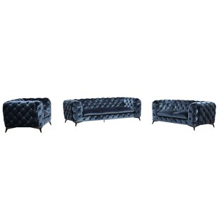 Binstead Chesterfield Loveseat by Rosdorf..