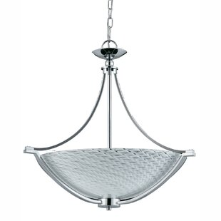 Winston Porter Runge 4-Light Bowl Pendant