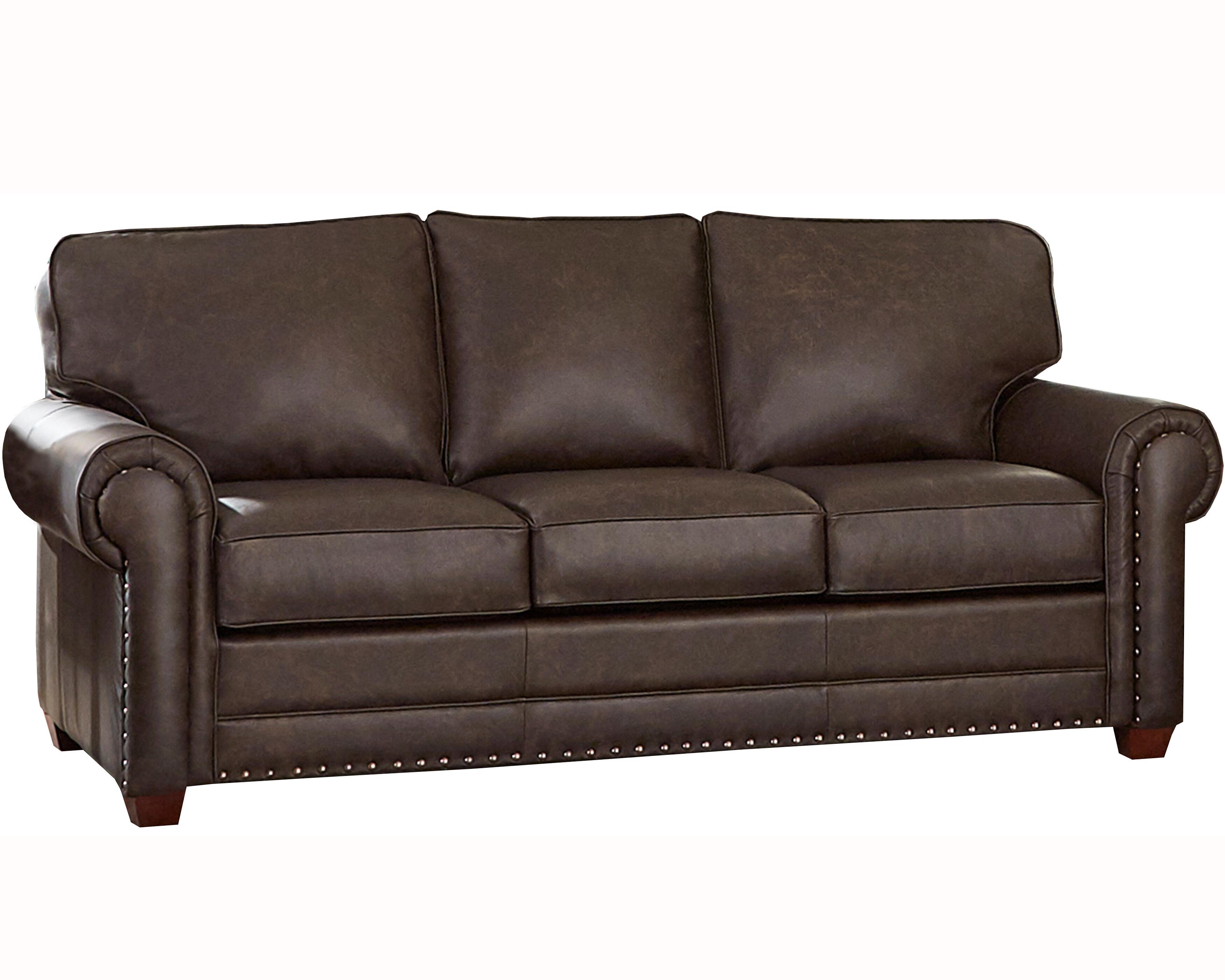- 17 Stories Lexus Leather Sofa Bed Wayfair