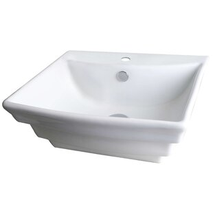 Searching for Ceramic Circular Vessel Bathroom Sink with Overflow ByAmerican Imaginations