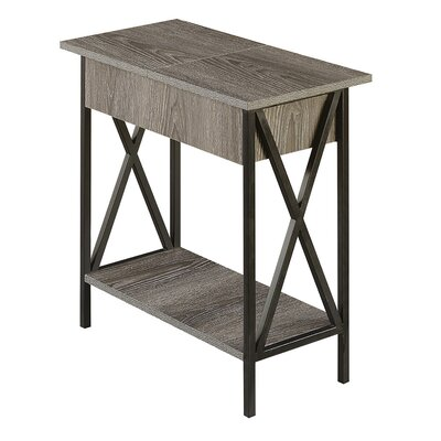 Abbottsmoor End Table Color: Weathered Gray by Andover Mills