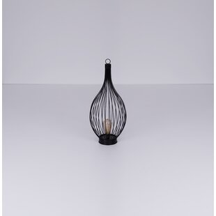 Ishaan Black Solar Powered LED Outdoor Table Lamp By Williston Forge