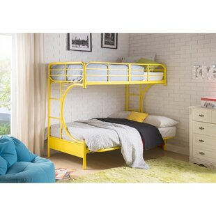 Sunburg Contemporary Metal Twin Over Full Futon Bunk Bed