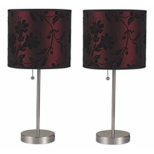 Contemporary Pull Chain with Fancy Shade 19 Table Lamp (Set of 2)