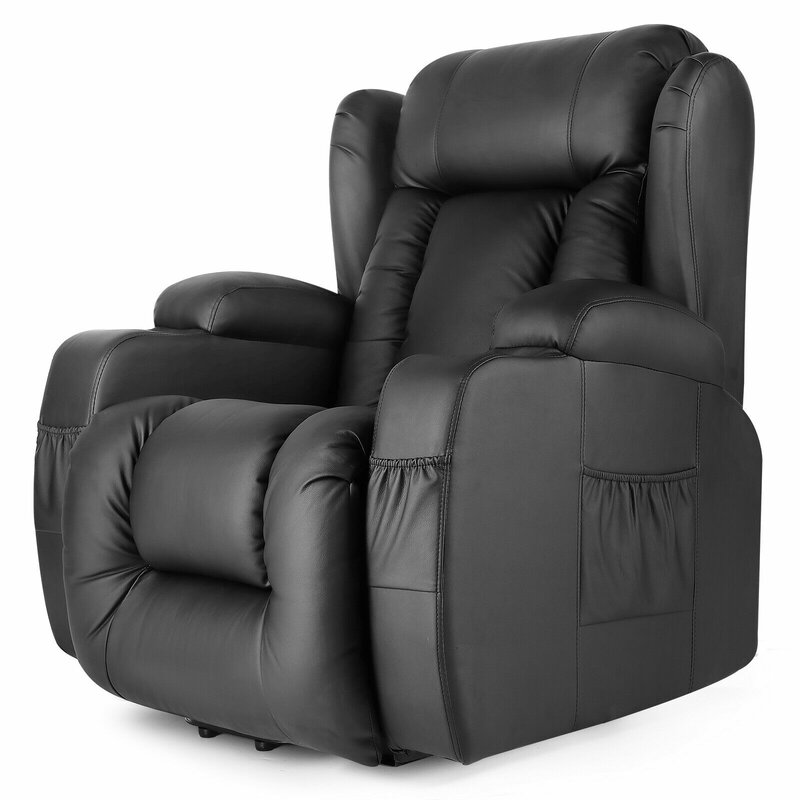 Latitude Run Beniamino Faux Leather Power Lift Assist Recliner With Massage With Heating Reviews Wayfair