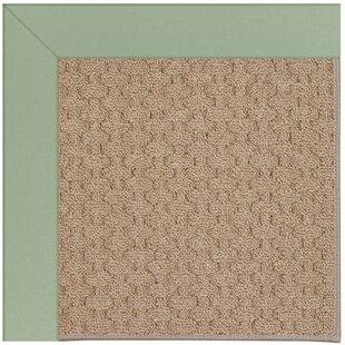 Lisle Machine Tufted Green/Brown Indoor/Outdoor Area Rug ByLongshore Tides