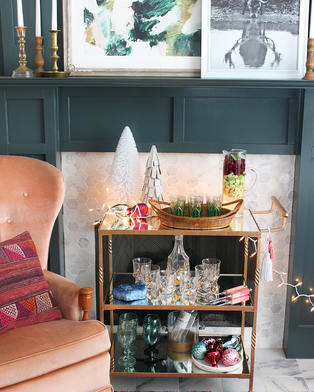 A Merry Bar Cart That S Boho And Bright Wayfair