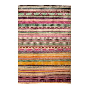 One-of-a-Kind Lori Hand-Knotted Pink Area Rug