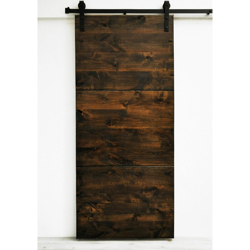 Dogberry Collections Flush Wood Finish Modern Slab Barn Door With Installation Hardware Kit Reviews Wayfair