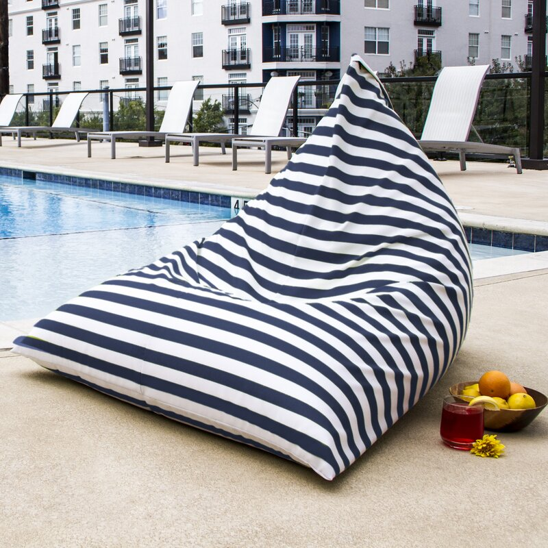 ... Blue Bean Bag Chairs; SKU: JAX1300. default_name - Jaxx Twist Outdoor Bean Bag Chair & Reviews Wayfair