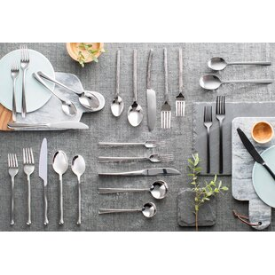 New Wave 64 Piece Flatware Set, Service for 12