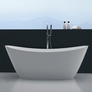 Online Reviews Opalo 60 x 27 Freestanding Soaking Bathtub By Orren Ellis