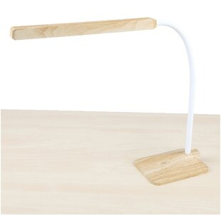 Mind Reader Bamboo Dimmable Touch Power Stand Alone Flexible 27