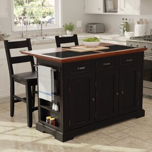 Hewson Kitchen Island Set by August Grove