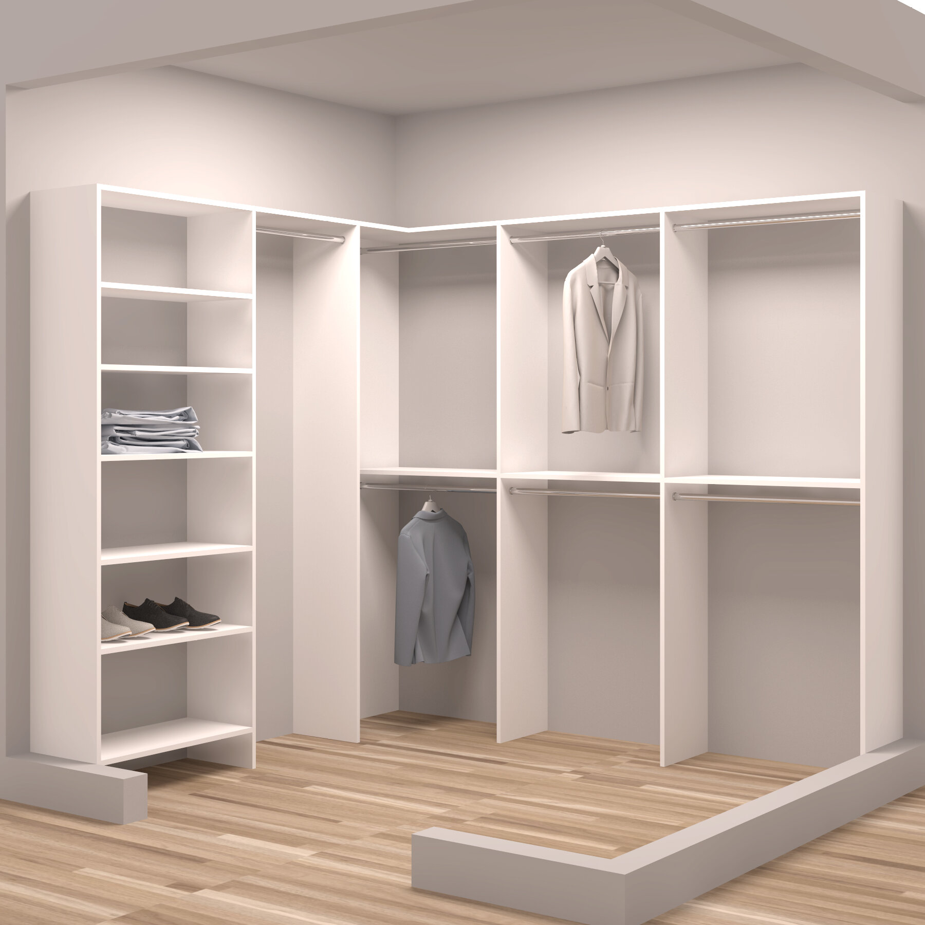 louis john ideas x l standard solid organizer closet wood system home