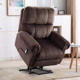 Hanneman Power Lift Assist Recliner with Massage by Canora Grey