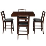 Ilbert 5 - Piece Counter Height Dining Set by Red Barrel Studio®