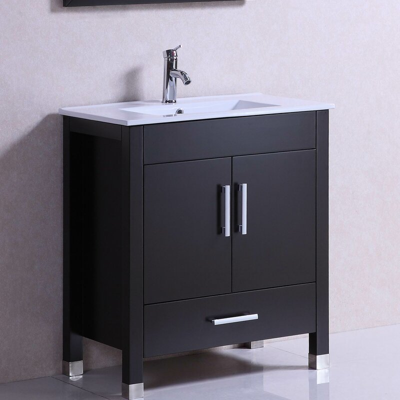 Modern Freestanding 30 Single Bathroom Vanity Set