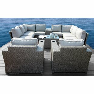 Rosecliff Heights Normandy 12 Piece Sectional Set with Cushions