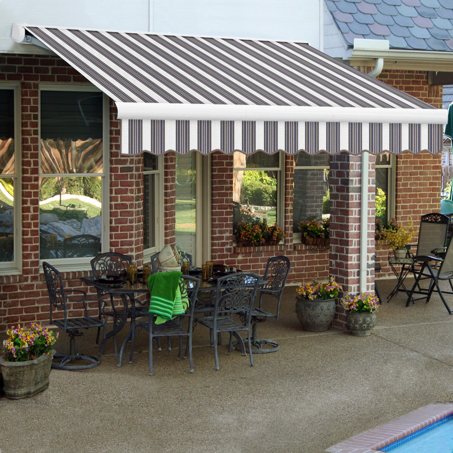 Key West Fabric Retractable Standard Patio Awning