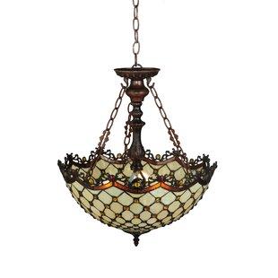 Meyda Tiffany Diamond and Jewel 3-Light Bowl Pendant