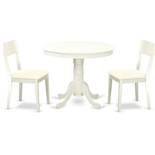 Brendan 3 Piece Breakfast Nook Solid Wood Dining Set by August Grove