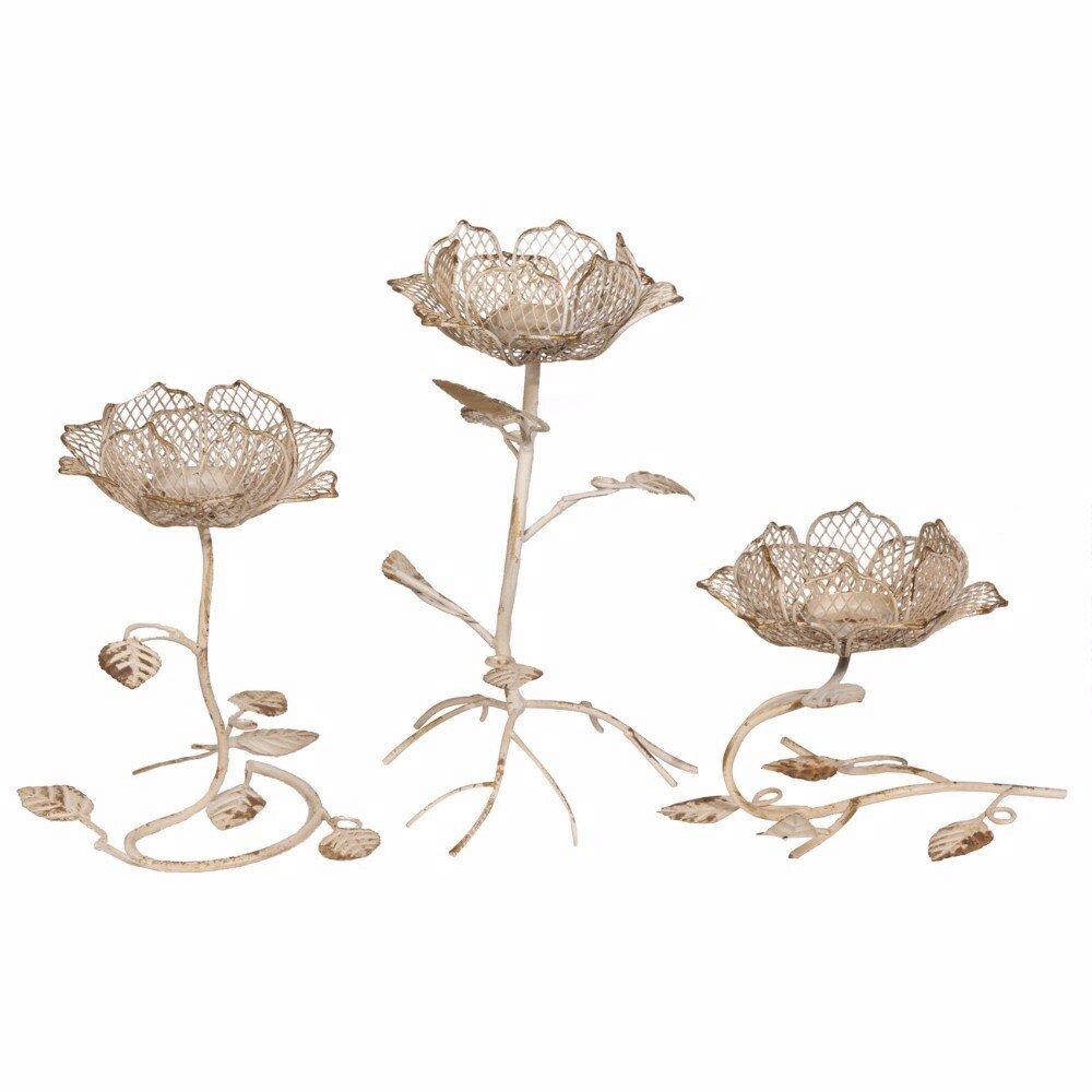 Ophelia co lotus flower design 3 piece metal dish set wayfair lotus flower design 3 piece metal dish set wayfair izmirmasajfo