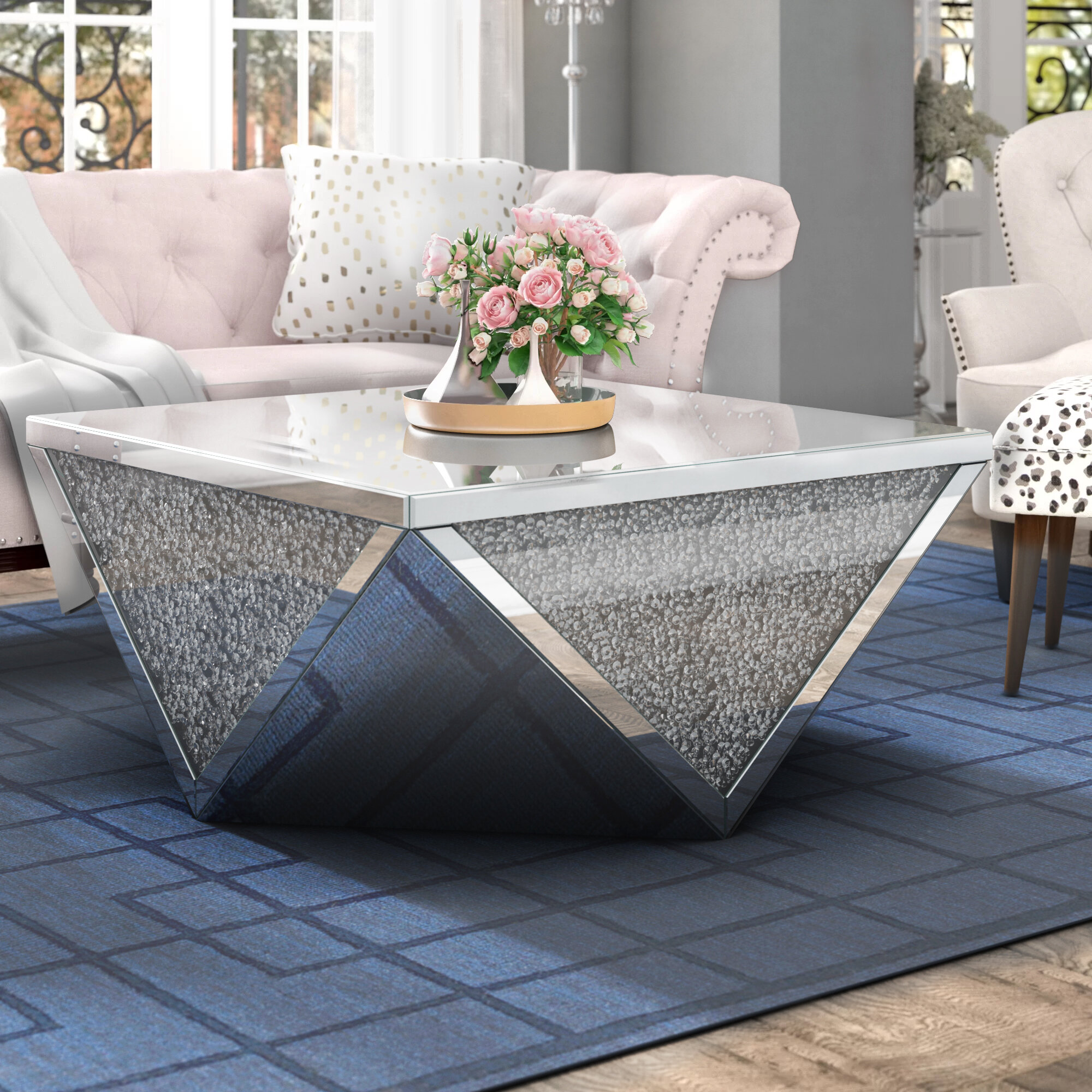 Fantastic Zackery Crystal Coffee Table Short Links Chair Design For Home Short Linksinfo