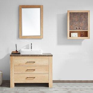 Kemp 42 Single Bathroom Vanity Set with Mirror By Union Rustic