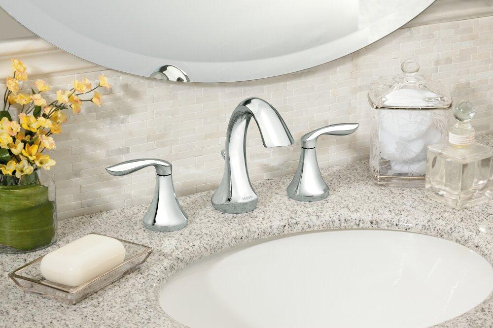 Bathroom Faucets Regina moen eva double handle widespread bathroom faucet & reviews | wayfair