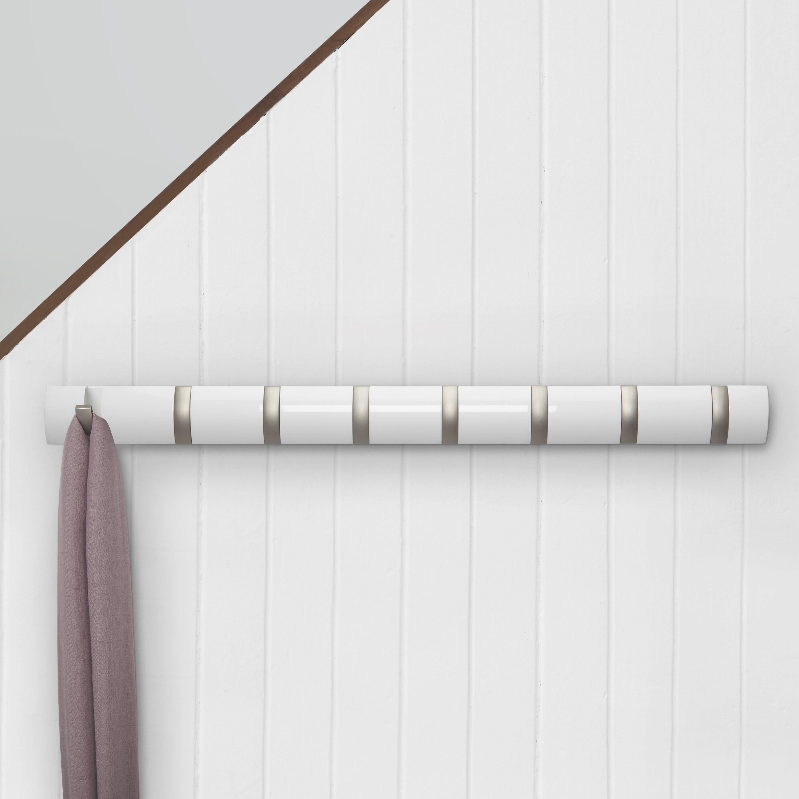 Flip Hook Wall Mounted Coat Rack