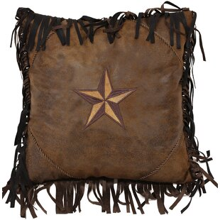 Artiaga Star Faux Leather Throw Pillow