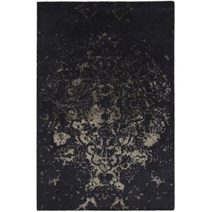 Kassie Patterned Contemporary Charcoal Area Rug