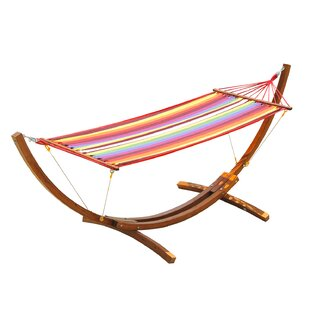 Gadson Arc Patio Chair Hammock with Stand