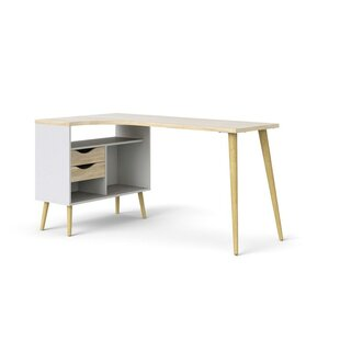 Mateer Wood L-Shape Computer Desk