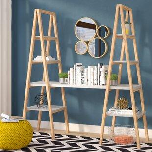 Buenrostro Triangle Desk Ladder Bookcase