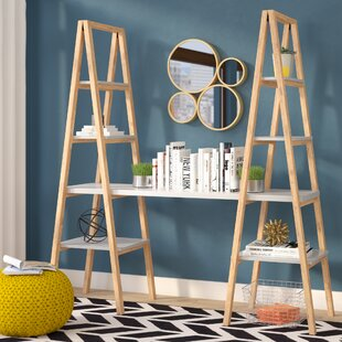 Degeorge Triangle Desk Ladder Bookcase