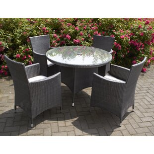 Rotteck 4 Seater Dining Set With Cushions By Sol 72 Outdoor