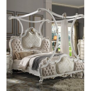 Vickery Tufted Low Profile Canopy Bed