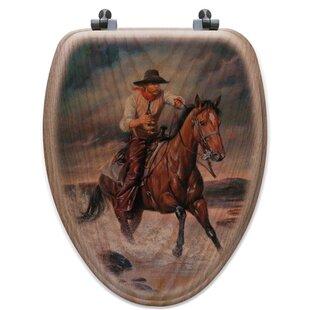WGI-GALLERY The Crossing Oak Elongated Toilet Seat
