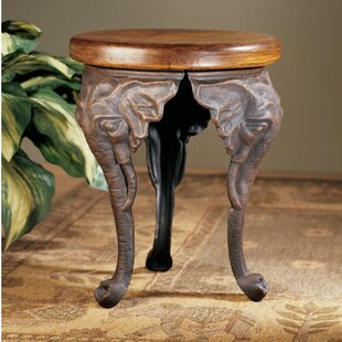 Buy luxury Three Elephants of Timbe Sculptural End Table ByDesign Toscano