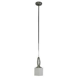 Anna 1-Light Square/Rectangle Pendant by Whitfield Lighting